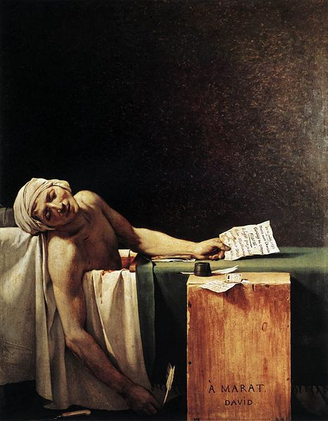 Death of Marat - Jacques-Louis David, 1793