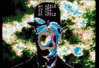 Magritte Apple (da série Digital Theatre) - Charlotte Johannesson