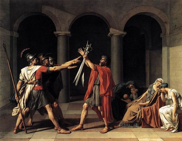 Oath of the Horatii - Jacques-Louis David, 1784