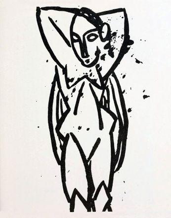 Pablo Picasso, Nu aux bras levés (Nude), 1907