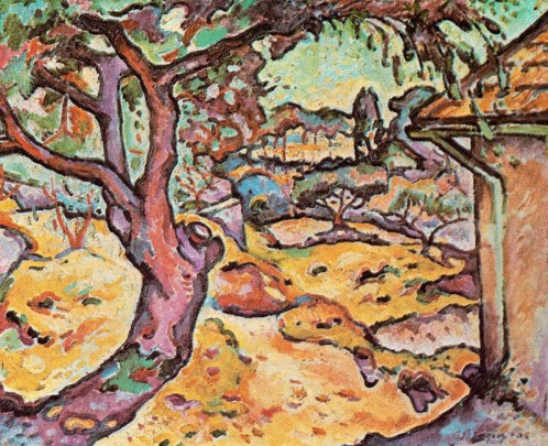 Georges Braque, 1906, L'Olivier près de l'Estaque (The Olive tree near l'Estaque).